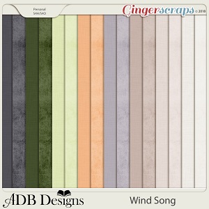 Wind Song Shabby & Linen Solid Papers by ADB Designs