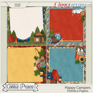 Happy Campers - PreDeco Papers