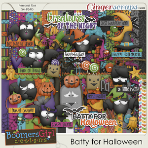 Batty for Halloween by BoomersGirl Designs