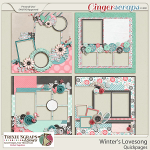 Winter's Lovesong Quickpages by Trixie Scraps Designs