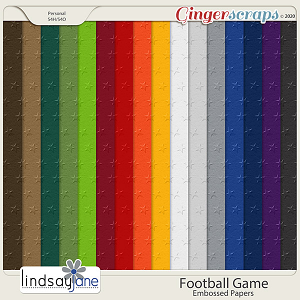 Football Game Embossed Papers by Lindsay Jane