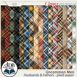 Uncommon Men: Husbands & Fathers Plaid Papers by ADB Designs