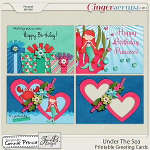 Under The Sea - Printable Greeting Cards