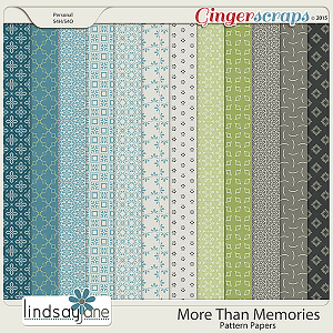 More Than Memories Pattern Papers by Lindsay Jane