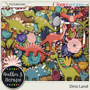 Dino Land KIT by Heather Z Scraps