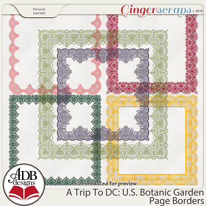 A Trip To DC - U.S. Botanic Garden Page Borders by ADB Designs