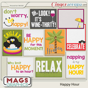 Happy Hour JOURNAL CARDS by MagsGraphics
