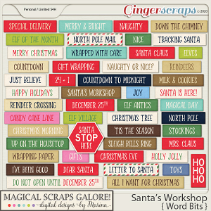 Santa's Workshop (word bits)