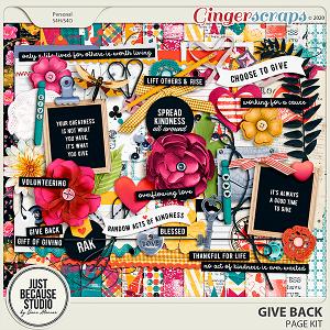 Give Back Page Kit by JB Studio