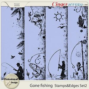Gone fishing Stamps & Edges Set2