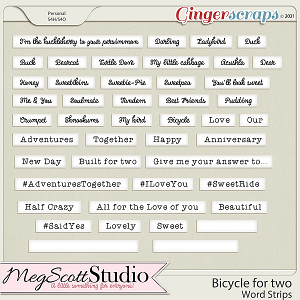 Bicycle for Two - Word Strips