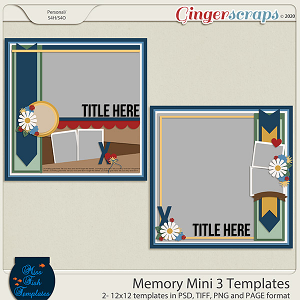 Memory Mini 3 Templates by Miss Fish