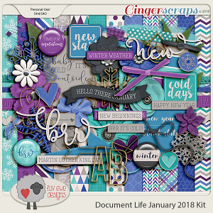 Document Life January 2018 Kit by Luv Ewe Designs