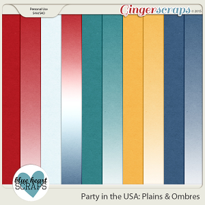 Party in the USA Plains and Ombres Paper Pack