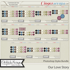 Our Love Story CU Photoshop Styles Bundle