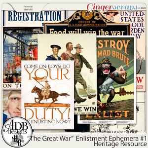 Heritage Resource Enlistment Ephemera Set 01 by ADB Designs