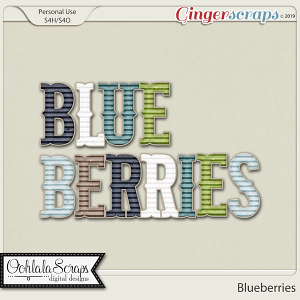 Blueberries Alphabets