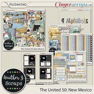 The United 50: New Mexico BUNDLE by Heather Z Scraps