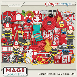 Rescue Heroes FIRE FIGHTER Pack by MagsGraphics