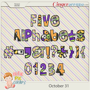 October 31st-Alphabets