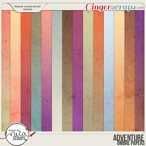 Adventure - Ombre Papers - by Neia Scraps