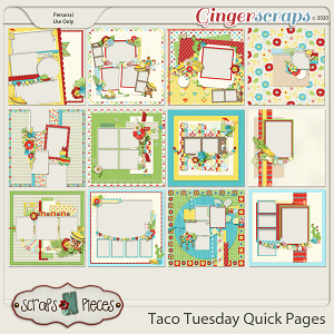 Taco Tuesday Quick Pages - Scraps N Pieces