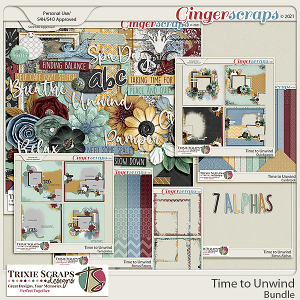 Time to Unwind Value Bundle by Trixie Scraps Designs