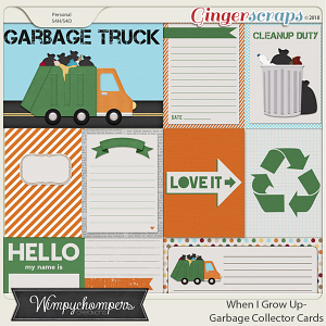 When I Grow Up- Garbage Collector Cards