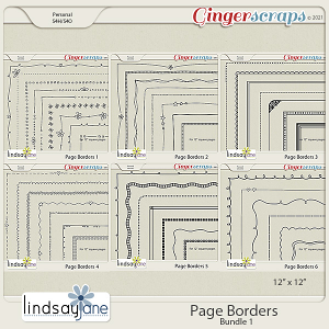 Page Borders Bundle 1 by Lindsay Jane