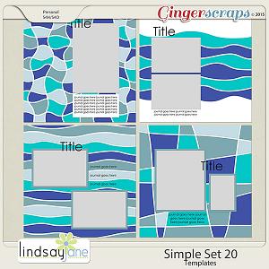 Simple Set 20 Templates by Lindsay Jane