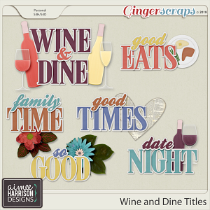 Wine and Dine Titles by Aimee Harrison