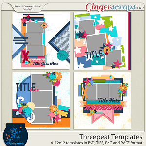Threepeat Templates by Miss Fish