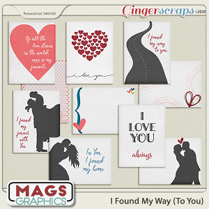 I Found My Way To You JOURNAL CARDS by MagsGraphics