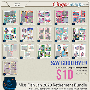 Miss Fish Templates January 2020 Retirement Bundle