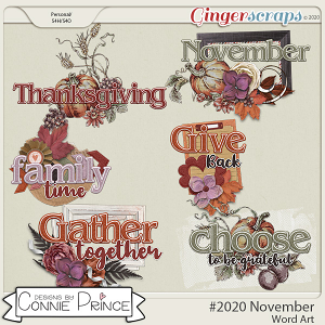#2020 November - Word Art Pack by Connie Prince