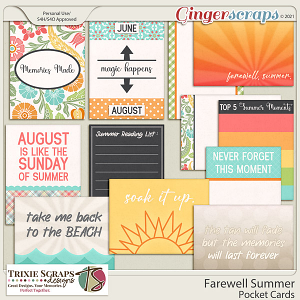 Farewell Summer Pocket Cards by Trixie Scraps Designs