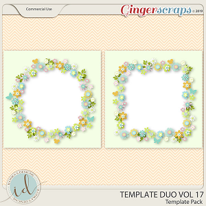 Template Duo Vol 17 by Ilonka's Designs