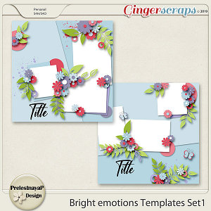 Bright emotions Templates Set1