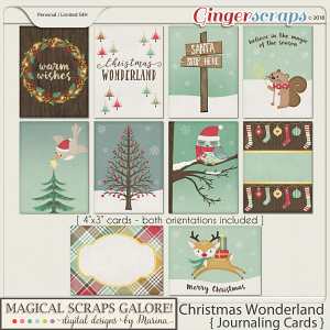 Christmas Wonderland (journaling cards)