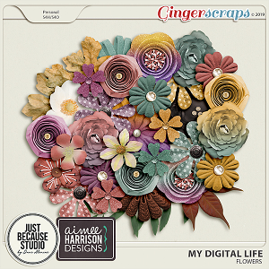 My Digital Life Flowers by JB Studio and Aimee Harrison Designs