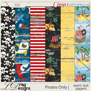 Pirates Only: Worn Out Papers by LDragDesigns