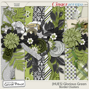 {HUES} Glorious Green - Border Clusters