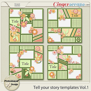 Tell your story Templates Vol.1