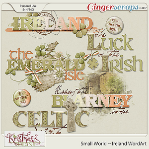 Small World ~ Ireland WordArt