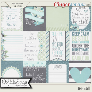 Be Still Journal or Pocket Scrapbook Cards