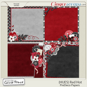 {HUES} Red Hot - PreDeco Papers