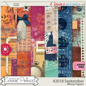 #2018 September - Messy Papers by Connie Prince