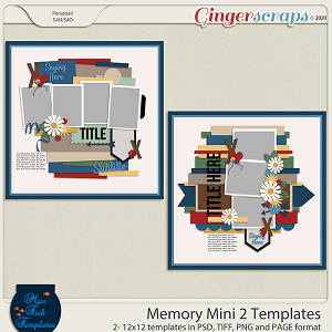 Memory Mini 2 Templates by Miss Fish