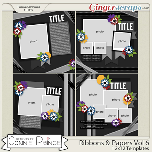 Ribbons & Papers Volume 6 - 12x12 Temps (CU Ok) by Connie Prince