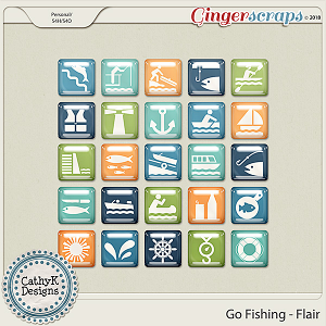Go Fishing - Flair by CathyK Designs
